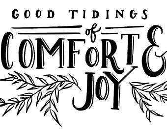 good tidings of comfort and joy naptimedesignsny on etsy handmade hunt