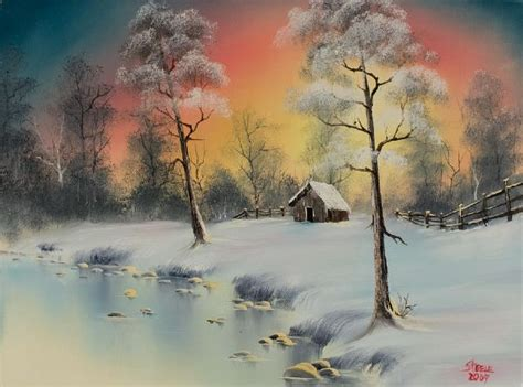 bob ross drawing painting bob ross winter elegance paintings for sale paintings biz