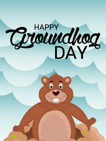 groundhog day cards happy groundhog day card birthday greeting cards by davia