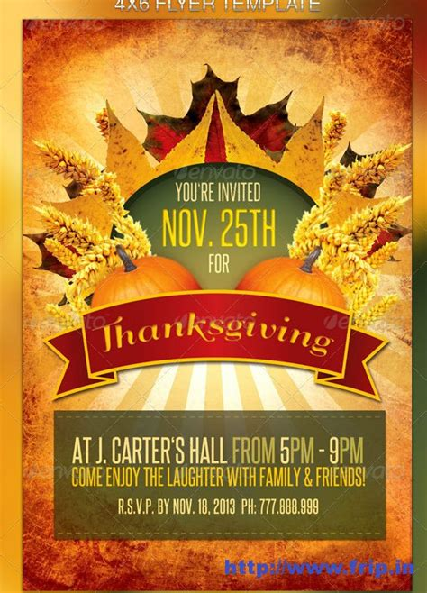 10 best images of free printable thanksgiving flyer