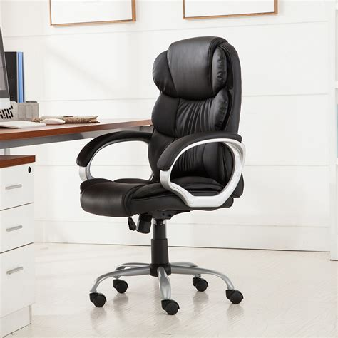 Best Ergonomic Desk Chair by Pu Leather Ergonomic High Back Executive Best Desk Task