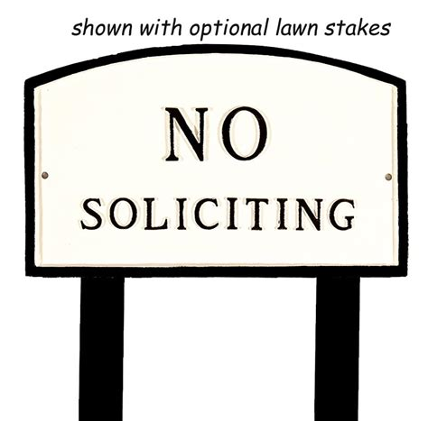 no soliciting sign for house large 21 x 13 no soliciting sign