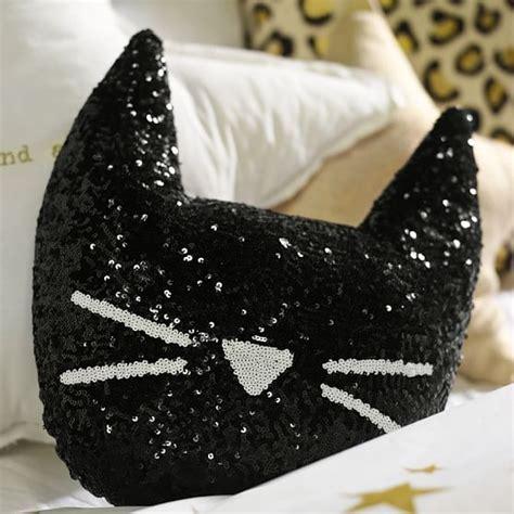 Cat Pillow by The Emily Meritt Sequin Cat Pillow Pbteen