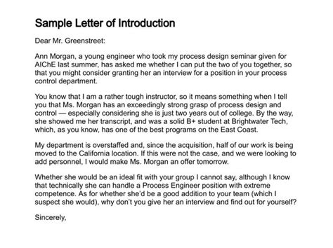 Introduction Letter School sle letter of introduction basic cover letter cover