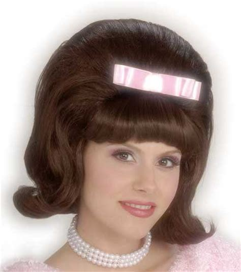 50s hair wigs for men womens bouffant brown 50s wig mr costumes
