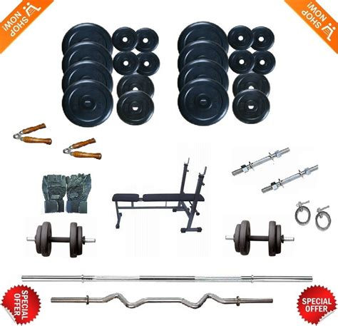 bench press rod weight body maxx 22kg home gym weight lifting package 3 in 1