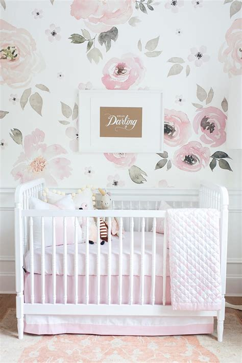 wallpaper for nursery touring monika hibbs s oh so sweet blush pink nursery