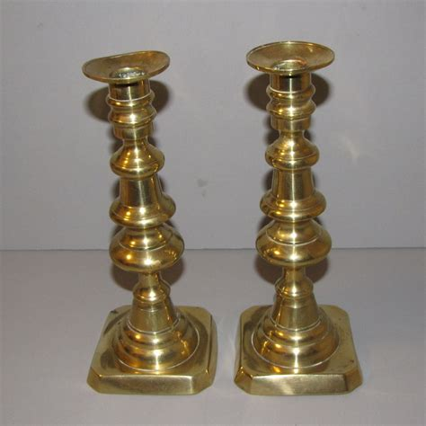 candlestick l vintage english brass candlesticks push up from tomjudy