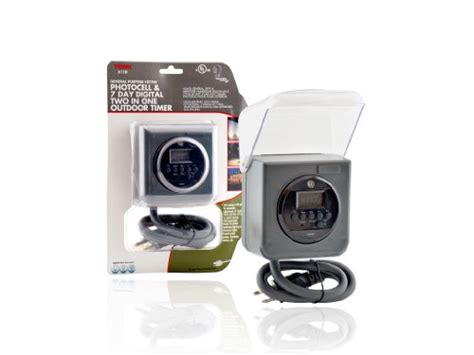tork 611d 7 day digital outdoor timer with one grounded