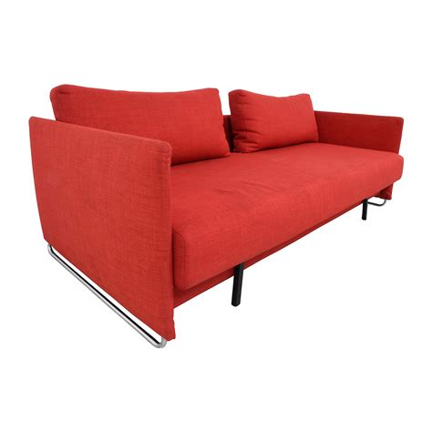 74 Off Cb2 Cb2 Tandom Red Sleeper Sofa Sofas Cb2 Sleeper Sofa