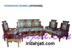 Kursi Bambu 1 Set kursi tamu sofa citra jati jepara mpb 059 set 3211