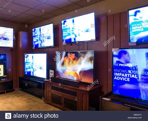 Home Theater Tv tv telly tellies and home theater display in best buy nyc stock photo royalty free image