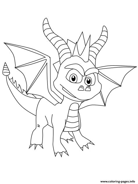 spyro dragon coloring pages printable