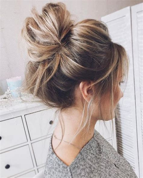 cute hairstyles messy bun amazing beauty world