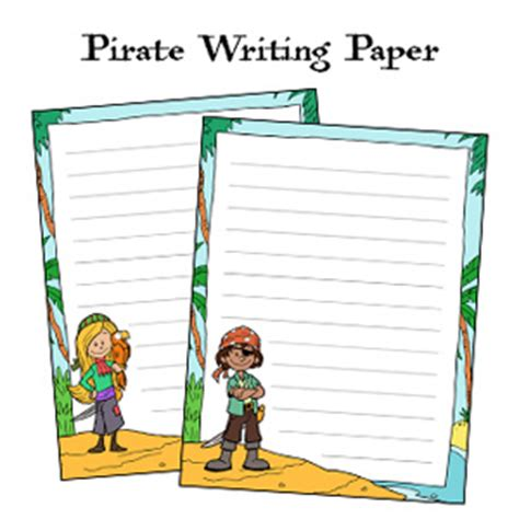 pirate writing paper pirate printables