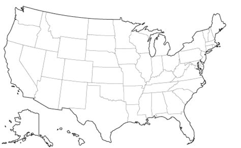 printable us map without state names search results for united states map without state names