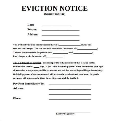 doc 535565 eviction notice forms free download and