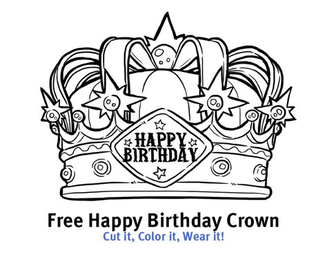 happy birthday crown template similiar happy birthday crown printable keywords