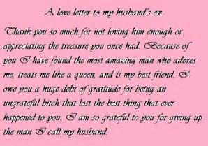 Thank You Love Letter Husband love letter to my husband s ex my life s crazy but i love it pi