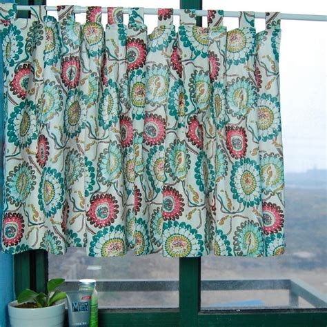 flowers kitchen window curtain bathroom curtain