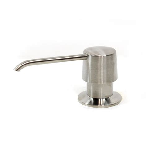 brushed nickel soap dispenser bathroom ariel built in round solid brass pump deck mount modern hand dish soap dispenser