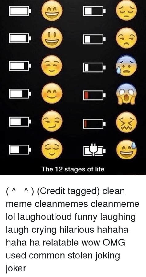 stages  life credit tagged clean meme