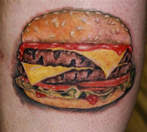 hamburger tattoo necropolis cheeseburger hamburger
