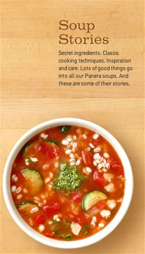 Panera Garden Vegetable Soup Recipe by Special Recipes Panera Bread And Cooking On