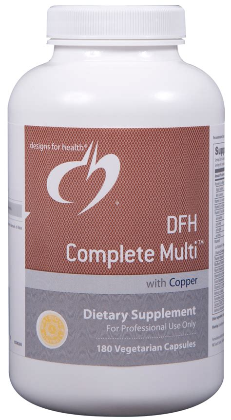 Copper Detox Supplement by Dfh Complete Multi With Copper Iron Free 180 Capsules