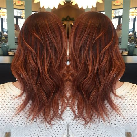 copper red ombre hair balayage red base with rich copper balayage highlights love my