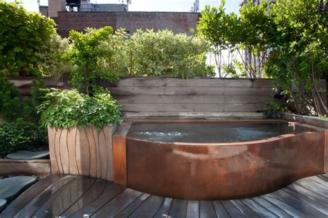 Japanese Kitchen Ideas copper rooftop hot tub craftsman landscape new york