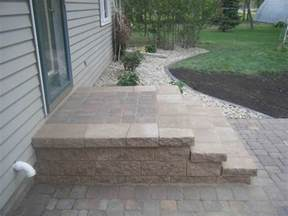 Paver Patio Steps Our Work Leading Edge Landscapes