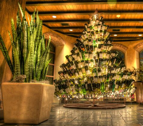 wine bottle christmas tree jonas lamis flickr