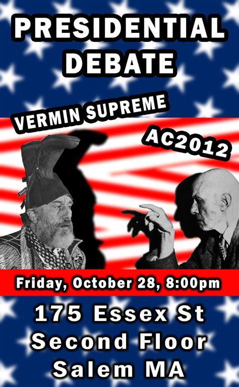 aleister crowley 2012 aleister crowley vs vermin supreme debate aleister