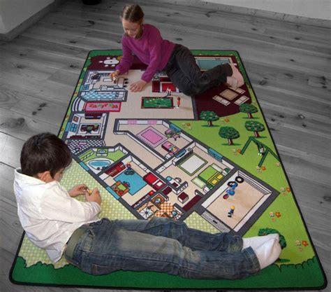 grand tapis de jeu tapitom tapis de jeu plan de la maison 130 x 200 cm