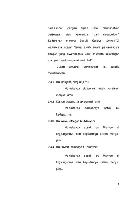 contoh laporan wawancara pedagang contoh jurnal wawancara sepcont