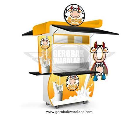 desain foto booth unik gerobak susu murni mamoo mikl jasa pembuat gerobak susu