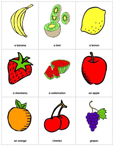 printable food flashcards for toddlers free printable fruit flashcards flash cards pinterest