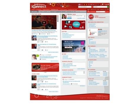 what looks like a what a modern intranet home page looks like