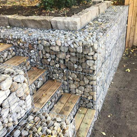 gabions basket garden retaining wall water erosion flood