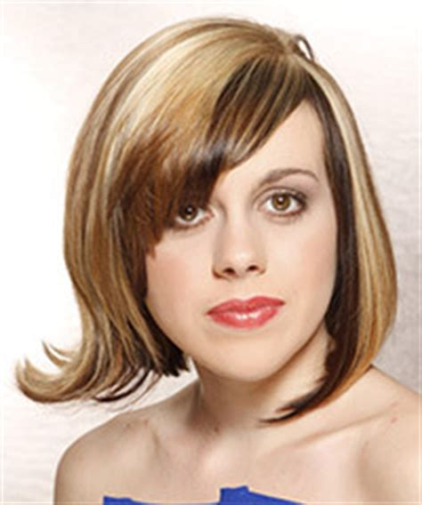 medium hair cuts that angke towards the face with bangs medium hairstyles that are angled towards the face