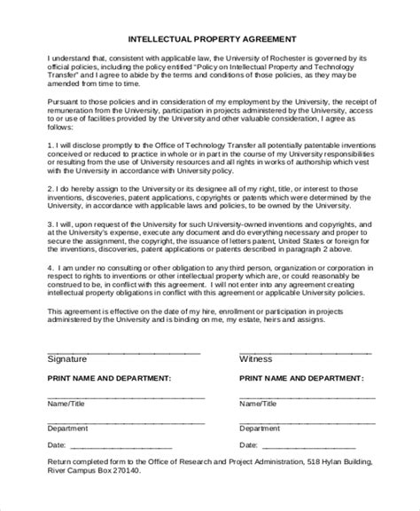 Intellectual Property Transfer Agreement Template Uk Sle Intellectual Property Form 9 Free Property Transfer Agreement Template