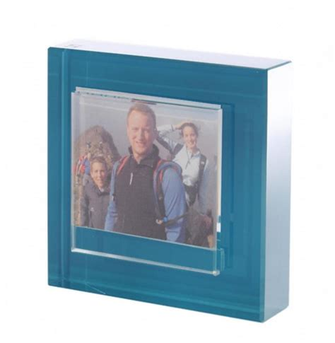 glass block photo frame uk