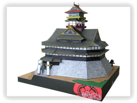 Papercraft Architecture - azuchi castle papercraft japanese architecture model kit 1 300