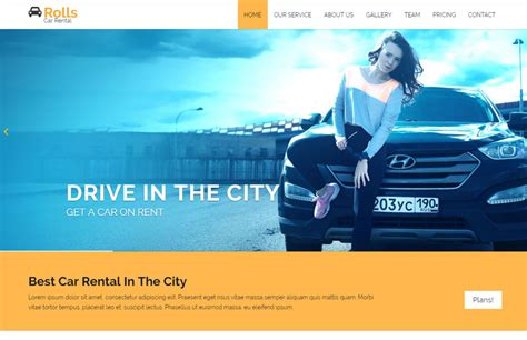 bootstrap themes rental car rental bootstrap website template free download