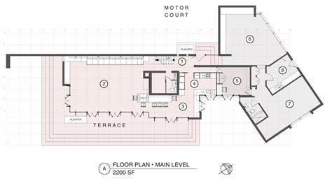 Usonian Floor Plans by The Bachman Wilson House