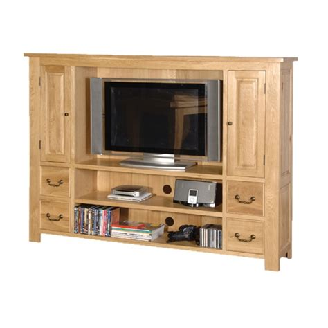 coach house oak flat screen tv cabinet with drawers