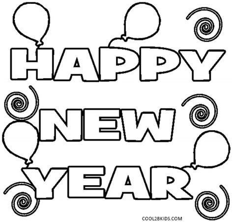 new year coloring sheets printable new years coloring pages for cool2bkids