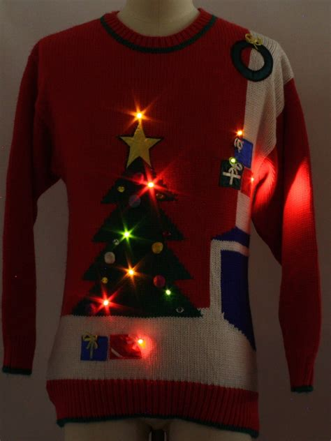 80 s vintage womens lightup sweater
