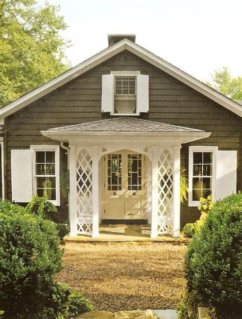 Cottage Colors by Houses Lattices And Entrance On